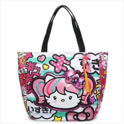 666adfd09d Loungefly Hello kitty Japanimation Tote Bag With 3D Bow Rare Sanrio Kawaii  2left