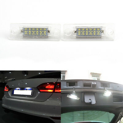 2x 18 LED License Number Plate Light Lamp For VW Golf Caddy Transporter Passat