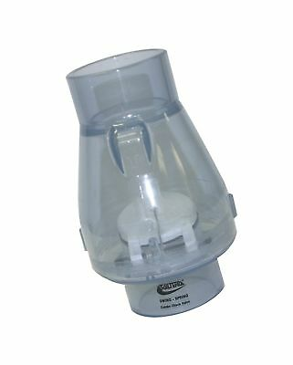 Check Valve Valterra PVC Swing Spring Combination Clear Fits 1 Inch Pipe 200C10