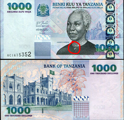 TANZANIA 1000 1,000 SHILLINGS 2006 P 36a P 36 FIRST ISSUED SEE AT BUTTON UNC