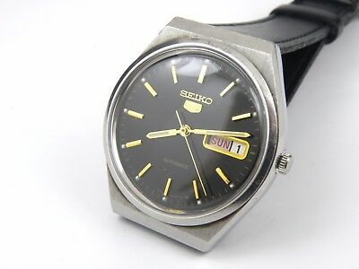 Mens Vintage Seiko 5 Automatic 6309-8960 Japan Watch