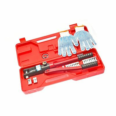 16 Ton Hydraulic Wire Crimping Tool - Battery Cable Lug Terminal Crimper with...