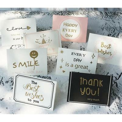 Pack Of 20 Thank You Cards With Gold Foil Finish Business Greeting Gift Card