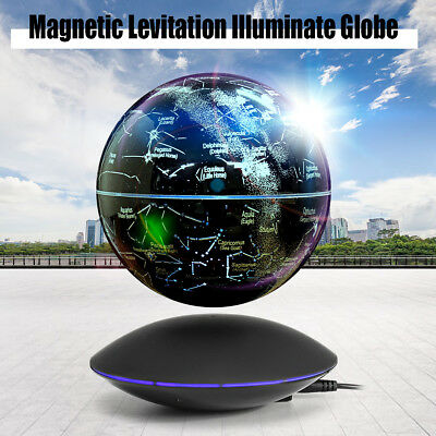 Constellation Illuminated Magnetic Levitation Floating Rotating Globe World Map
