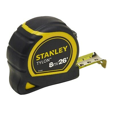 Stanley Pocket Tylon Tape 8m 26 Feet 25 mm In Yellow And Black Color Top Quality