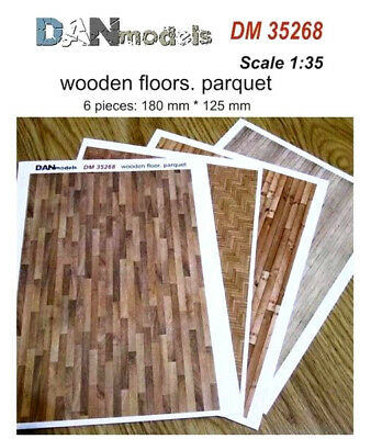 Paper material for dioramas. Wooden floors Parquet (6p 180x125)  1/35 DAN 35268