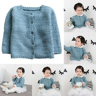 Infant Baby Knitted Cotton Sweater Blouse Casual Jacket Tops Kids Clothes Coat