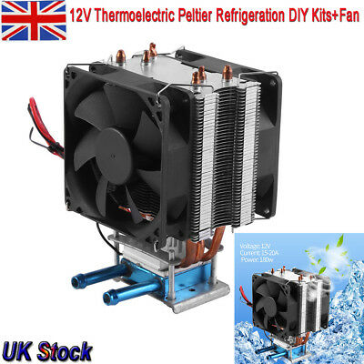 12V Thermoelectric Peltier Refrigeration DIY Kits Water Cooling System + Fan UK