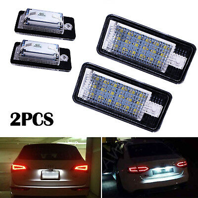 2 x 18 LED Number License Plate Light for Audi A3 S3 A4 B6 A6 A8 S6 Q7 S8 RS4/6