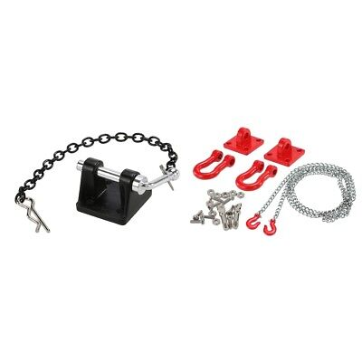 Tow Winch Hook Trailer Chain Shackle fr RC 1/10 Axial Scx10 D90 D110 TF2 Car