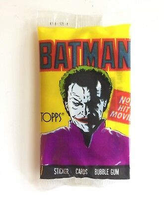 Topps BATMAN Movie (Joker Version) Sealed/Unopened Wax Trading Card Pack (1989)