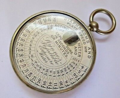 Antique Wynne's Infallible Light Exposure Meter in Pocket Watch Type Case