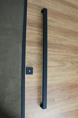 1200Mm Matt Black Entrance Front Door Barn Pull Handle Double Sided Entry