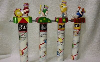 M&M's Train Parade Candy Tube Topper's Set Of 4
