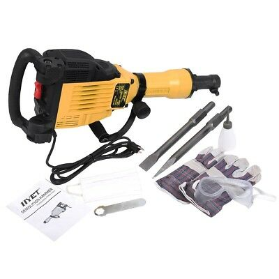 HD 1400RPM 3600W Electric Demolition Concrete Jack Hammer Breaker with Case US