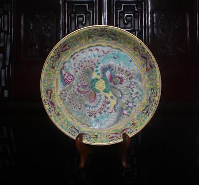 Old Rare Famille Rose Chinese Porcelain Butterfly Dish Qianlong MK