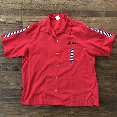1970s Vintage Bowling Shirt Hilton ROCKABILLY Extra Large XL