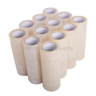 """72 Rolls 2""""x110 Yards (330' ft) Box Carton Sealing Clear Packing Package Tape"""