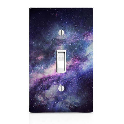 Blue Galaxy, space Light Switch Cover, Cabinet Knob, Home Decor, Renters Decor