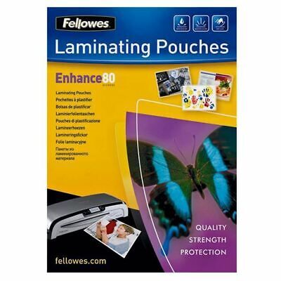 Fellowes A4 Enhance Laminating Pouches 80 Microns Water Resistant Pack Of 25