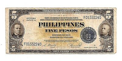 "Paper Money $5 ""Victory Note from WW II"
