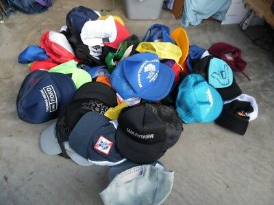 Men's Wholesale Lot 67 Trucker Mesh Hats  Oil Beer Hawaii Fishing (wb465)