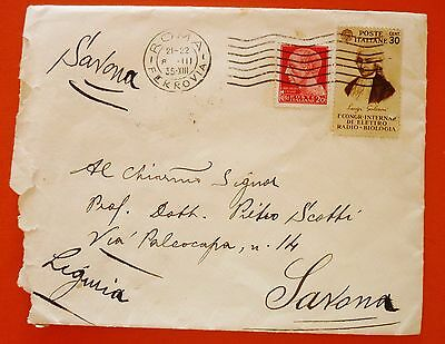 Italy Kingdom 1935  Cover from Roma to Savona - Multiple frank. N.247+364