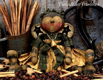 PATTERN Primitive Bumble Bee Doll Whimsical Bee Doll UNCUT Threadbare Primitives