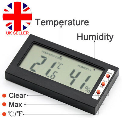 Digital LCD Clock Thermometer Hygrometer Humidity Meter Home Kitchen Room L4U