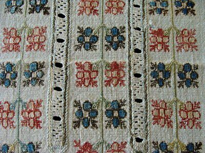 RARE Antique Turkish Ottoman Hand Embroidered Textile METALLIC SILVER