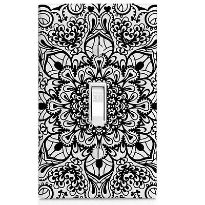 Black Blossom Wall Plate Light Switch Cover-Home Decor-Bedroom Decor-Bathroom