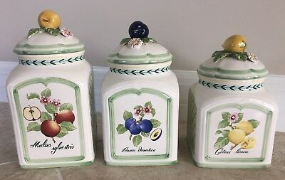 Villeroy & Boch FRENCH GARDEN Charm Fleurence Canisters - set of 3