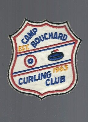 1963 Quebec, Canada  ''Camp Bouchard''  Curling Club Patch