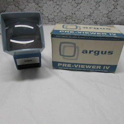Vintage 1970 Argus Pre-Viewer IV Slide Viewer for 35mm and 127 Size Slides BH