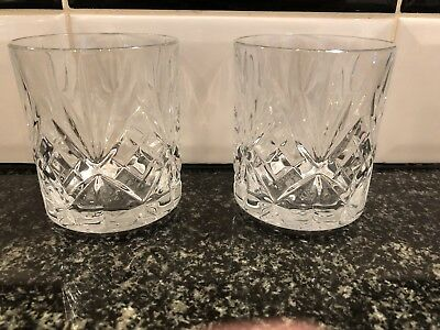 2x Bacardi Tumbler Glasses Pub Shed Bar Man Cave