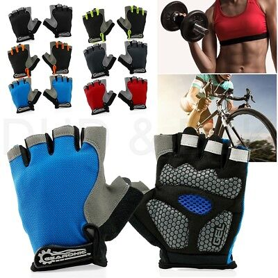 Cycling Men Women Mountain Bicycle Cycle Half Finger Gel Pad Anti-slip Gloves