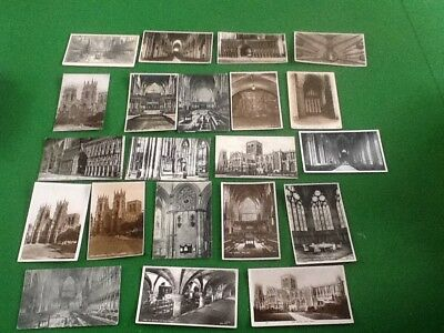 Job lot collection Old postcards of York minster new and used