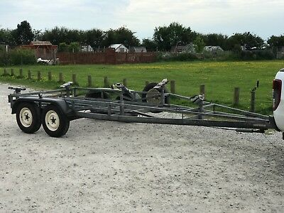 Braked 6m - 8m Boat Trailer, Adaptable for Yacht or Other Types of Vessel.