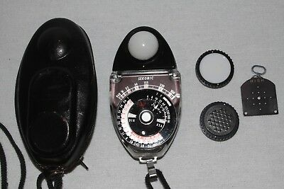 Sekonic Studio Delux L-28C2 light meter W/ Leather Case MADE IN JAPAN