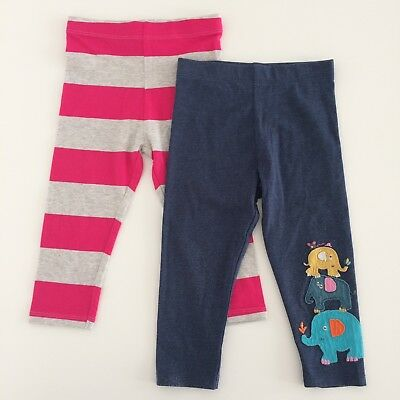 Two Pairs Of NEXT Baby Girls Leggings Size 12-18 Months