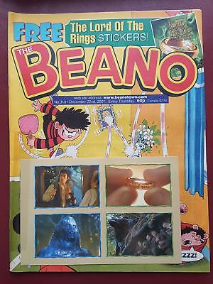 The Beano Comic No.3101 Dec 2001 - Includes Free Gift - LOTR Stickers #B1991