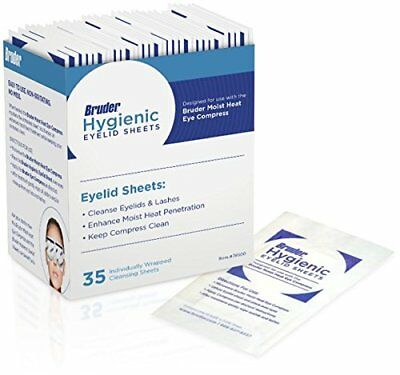 Bruder® Hygienic Eyelid Sheets (Box of 35) for use with Moist Heat Eye Compress