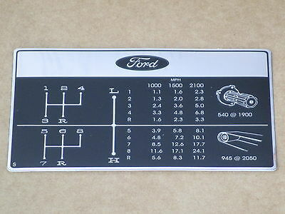8 Speed Shift Pattern Decal For Ford Decals 4600 4610 Backhoe 420