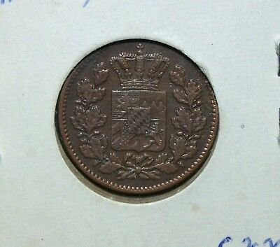 Bavaria (Germany) - 1860 2 Pfenning and 1863 Silver 1 Kreuzer - 2 Great Coins!