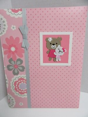Carters Just One You Baby Memory Scrapbook Album Fill In Pink Girls CR Gibson