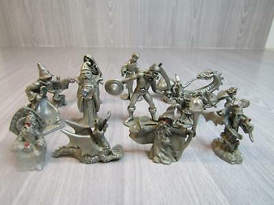 Lot of 12 Spoontiques Miniatures and 1 Hudson Miniature Fantasy Wizards Dragons