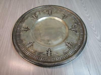 "12"" Benedict Plate 667 Tray Round Leaf Pattern"