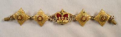 WW1 Vintage Trench Art Souvenir Sweetheart Bracelet of German States Insignia