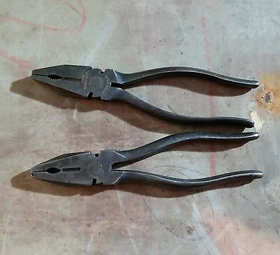 Two old vintage pliers