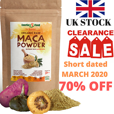 Organic Maca Powder Root-Energy, Mood, Memory&Libido Booster Rich Calcium Zinc..